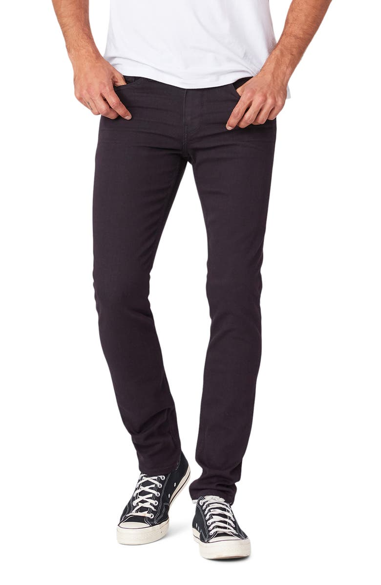 PAIGE Transcend Federal Slim Straight Leg Jeans, Main, color, DEEP BLACK VIOLET