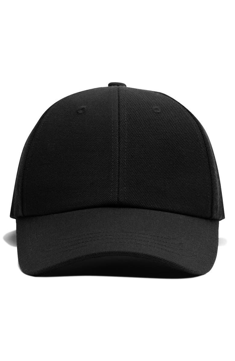 REIGNING CHAMP Six Panel Twill Baseball Cap, Main, color, BLACK