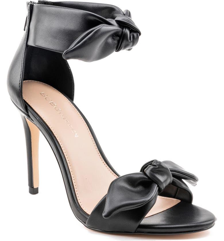 BCBGENERATION Jessa Ankle Strap Sandal, Main, color, BLACK LEATHER