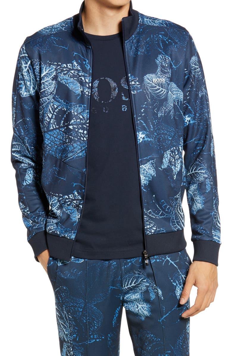 BOSS Skarley Track Jacket, Main, color, NAVY