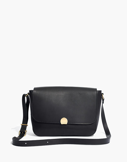 The Abroad Shoulder Bag in true black
