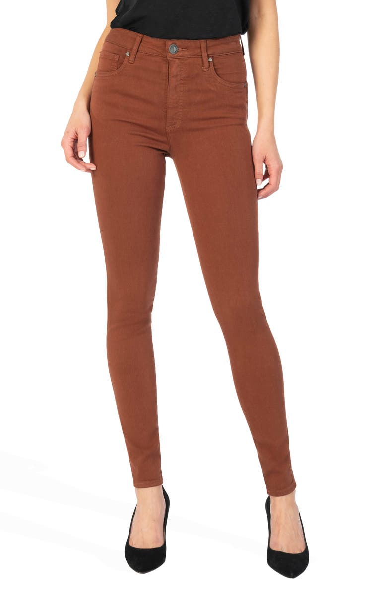 KUT FROM THE KLOTH Mia High Rise Toothpick Skinny Jeans, Main, color, CLAY