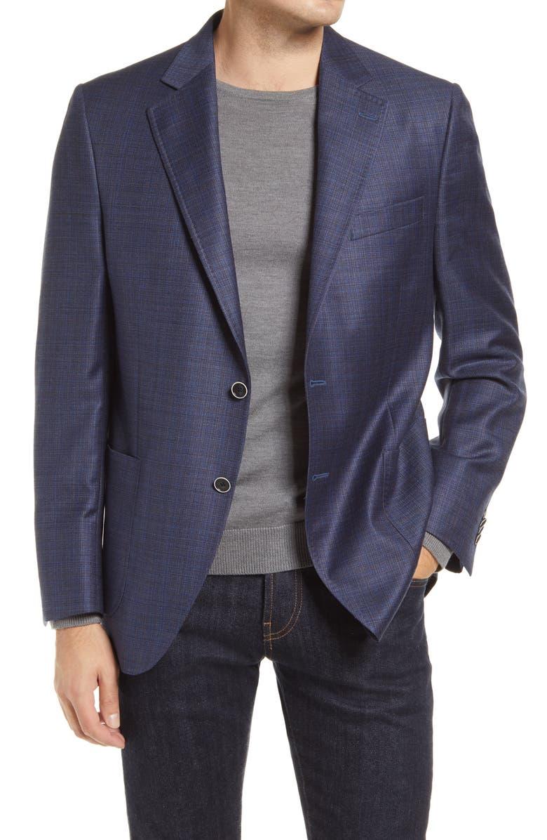 PETER MILLAR Hyperlight Wool Sport Coat, Main, color, Blue