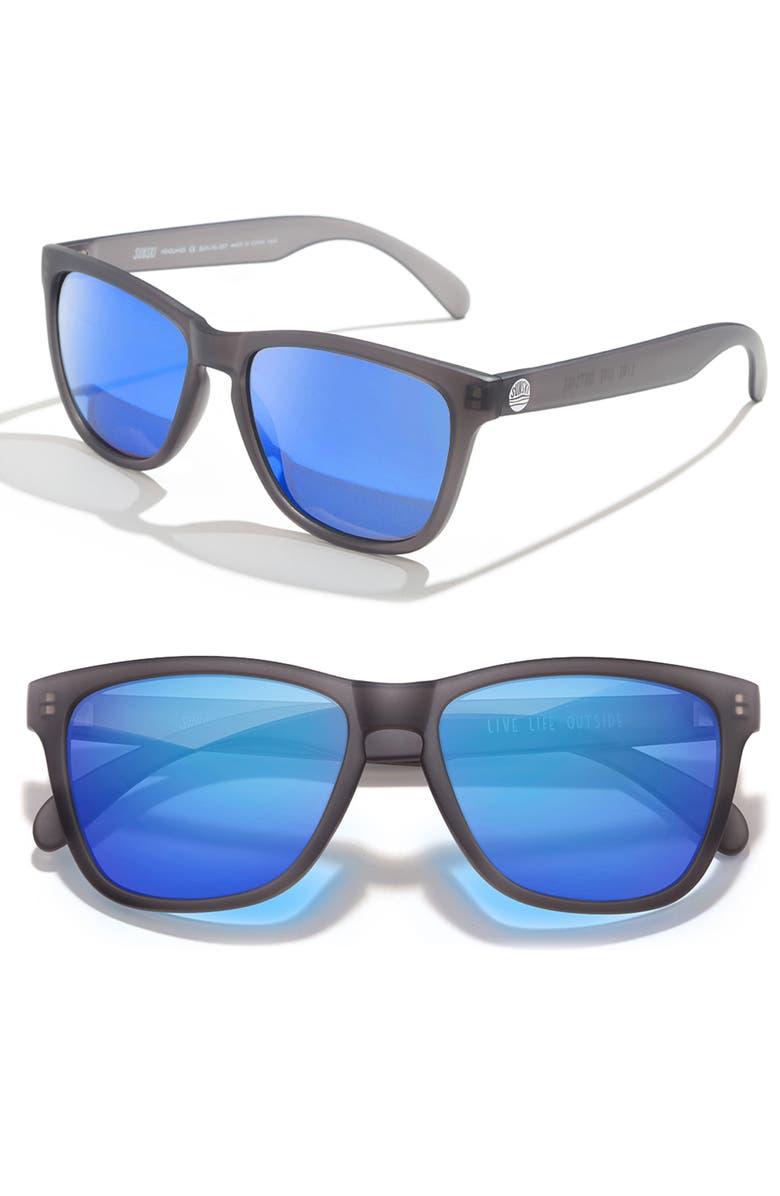 SUNSKI Headland 53m Polarized Sunglasses, Main, color, BLACK / BLUE