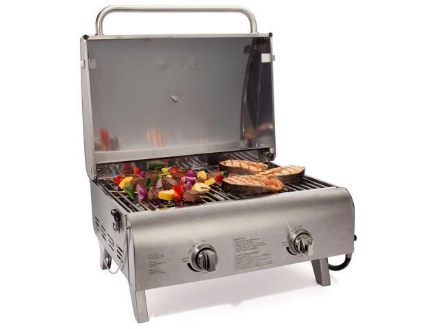 Cuisinart 2-Burner Professional Portable Propane Gas Grill CGG306 Silver