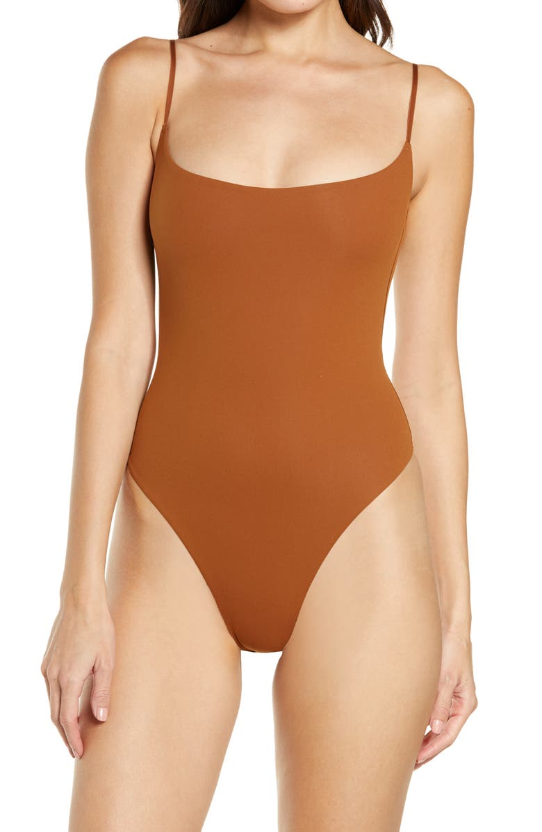Fits Everybody Cami Thong Bodysuit, Main, color, COPPER