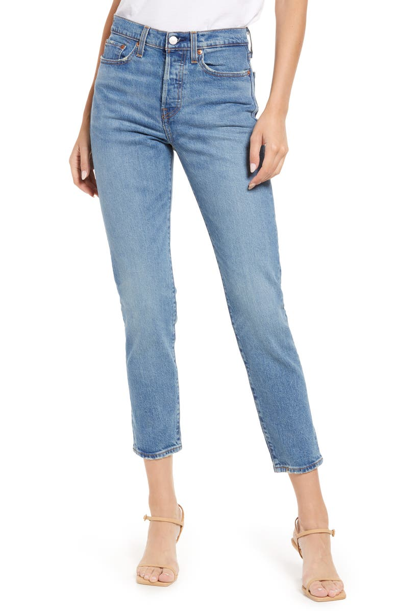LEVI'S® Wedgie Icon Fit High Waist Straight Leg Jeans, Main, color, THESE DREAMS