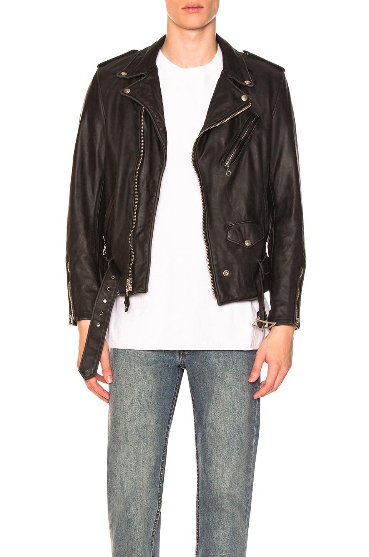 Schott Vintage Fit Moto Jacket in Black | REVOLVE