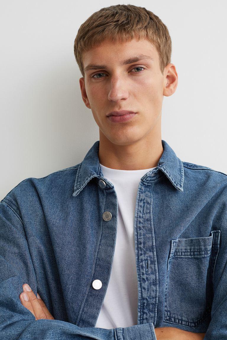 Denim Shirt Jacket - Denim blue - Men | H&M US