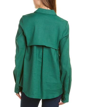 Rosie Assoulin Drawstring Linen-Blend Shirt