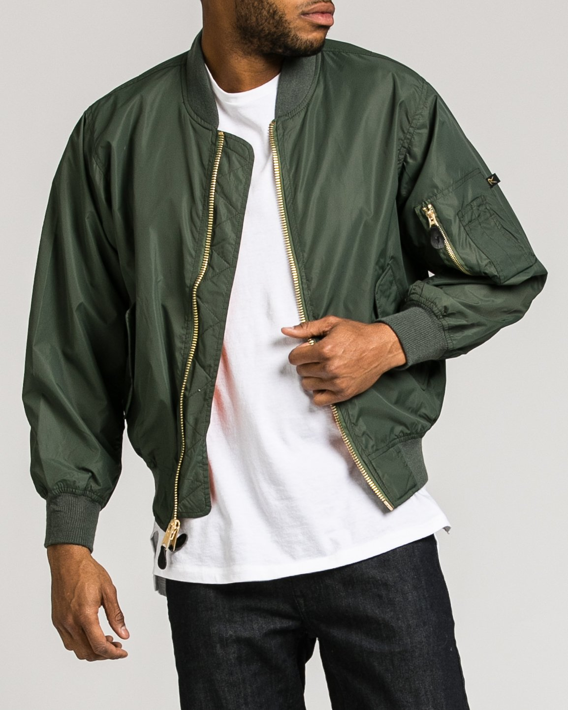 Enhanced Nylon MA-1 Jacket – JackThreads