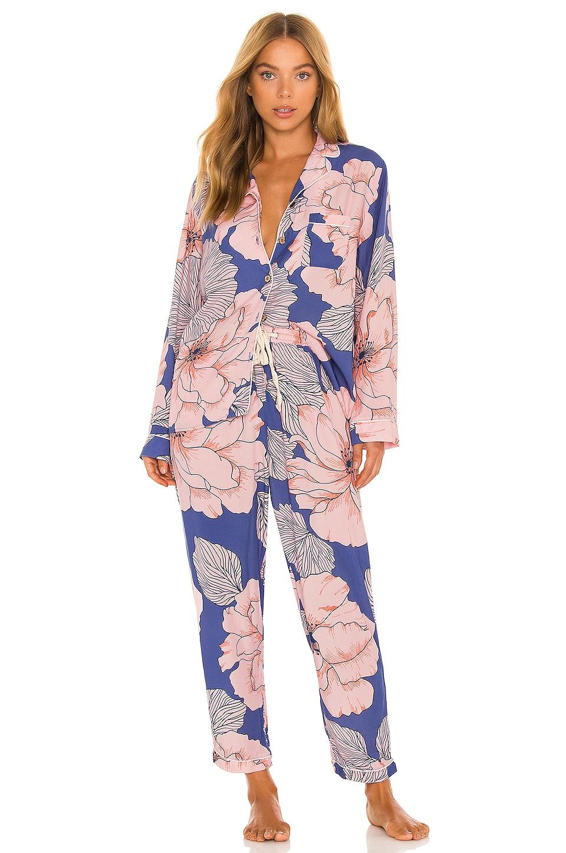 Long Sleeve Pant Pajama Set in Luminous Daydream