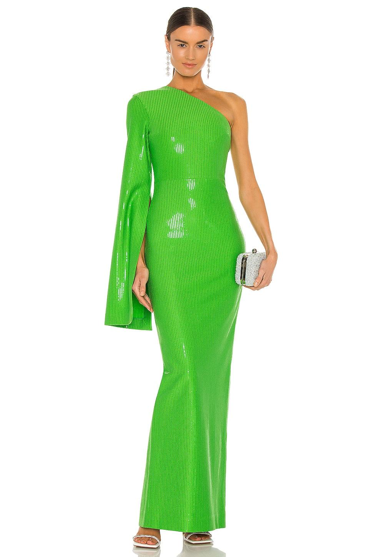 SOLACE London Valentina Maxi Dress in Bright Green | REVOLVE