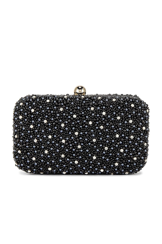 Mini Pearl Box Clutch in Black