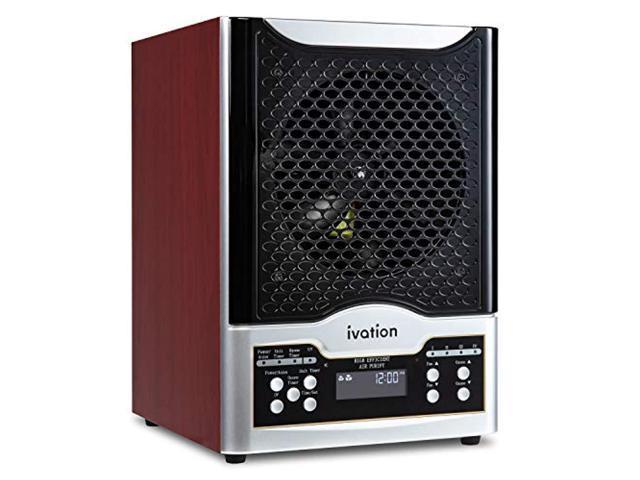 5-in-1 hepa air purifier & ozone generator w/digital display timer and remote, ionizer & deodorizer 3,700 sq/ft - hepa,