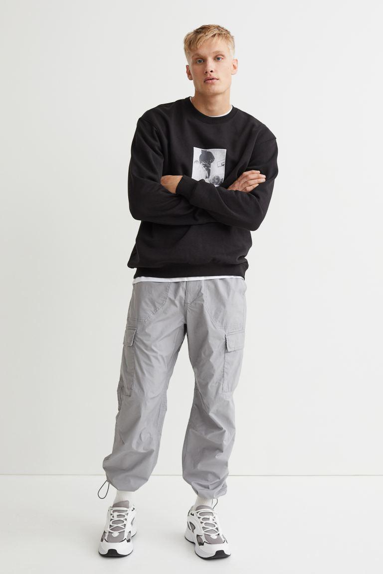 Regular Fit Cargo Pants - Gray - Men