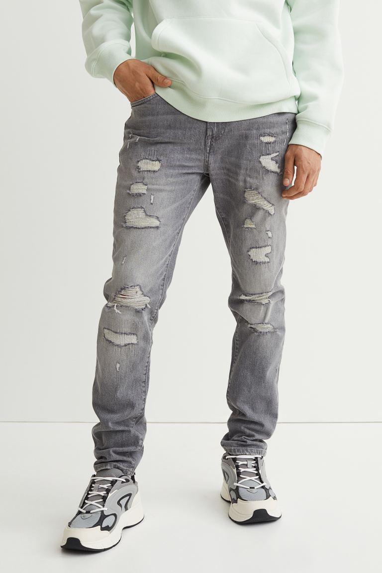 Skinny Jeans - Gray - Men