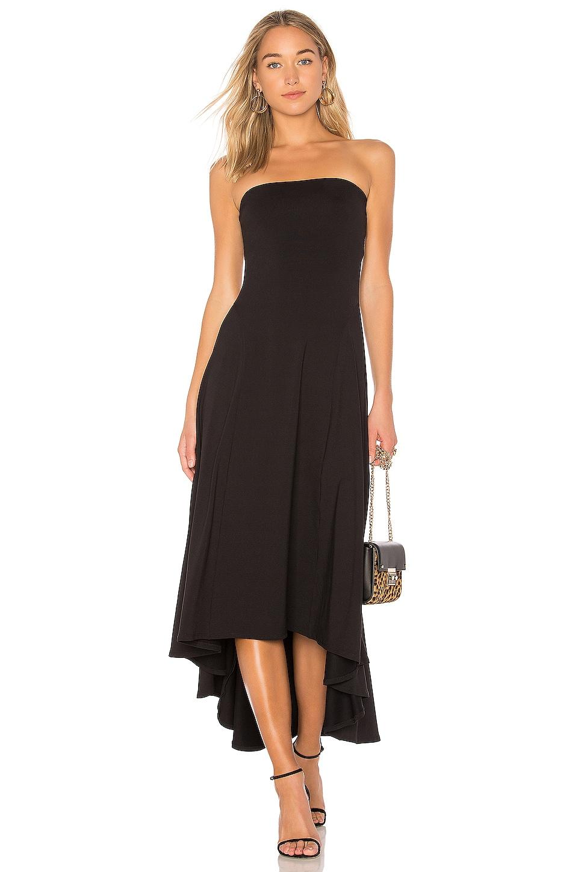 Susana Monaco Strapless Hi Low Dress in Black | REVOLVE