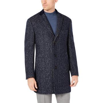 Mens Wool Blend Overcoat Walker Coat
