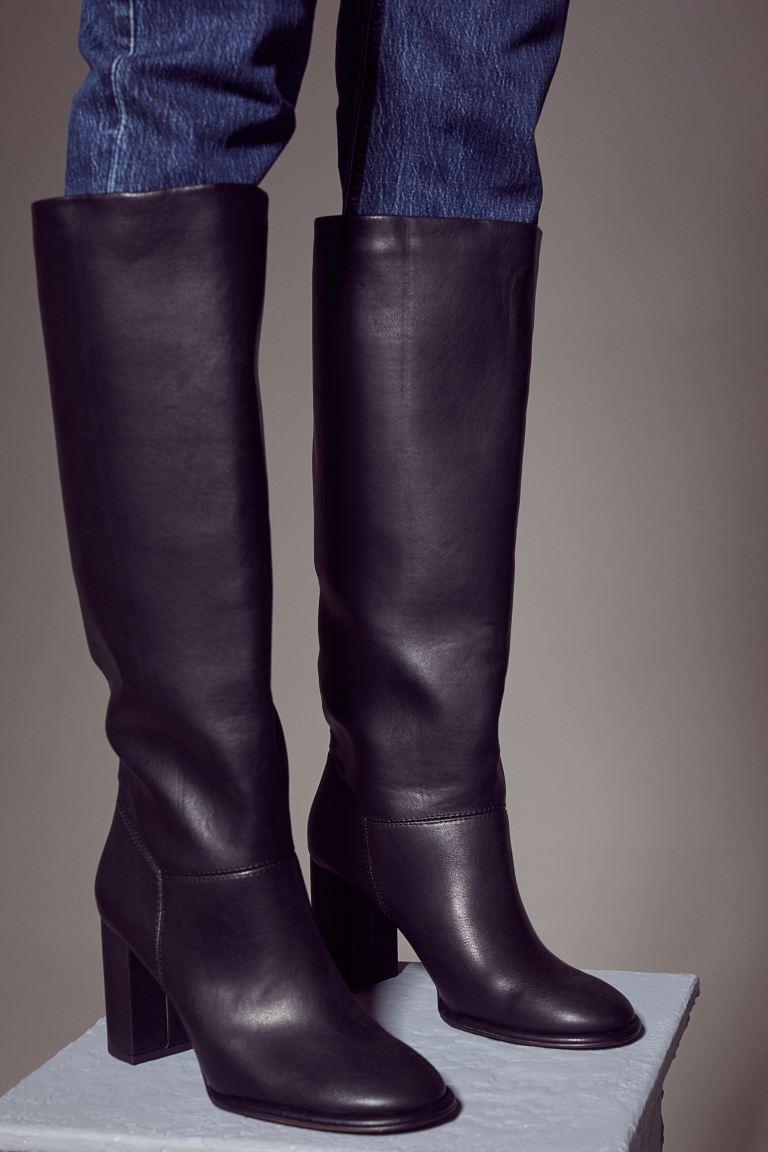 Knee-high Boots - Black - Ladies