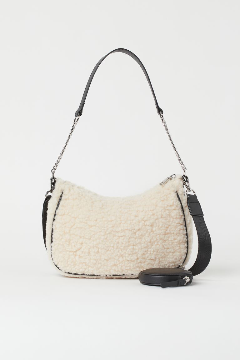Shoulder Bag with Pouch Bag - White - Ladies
