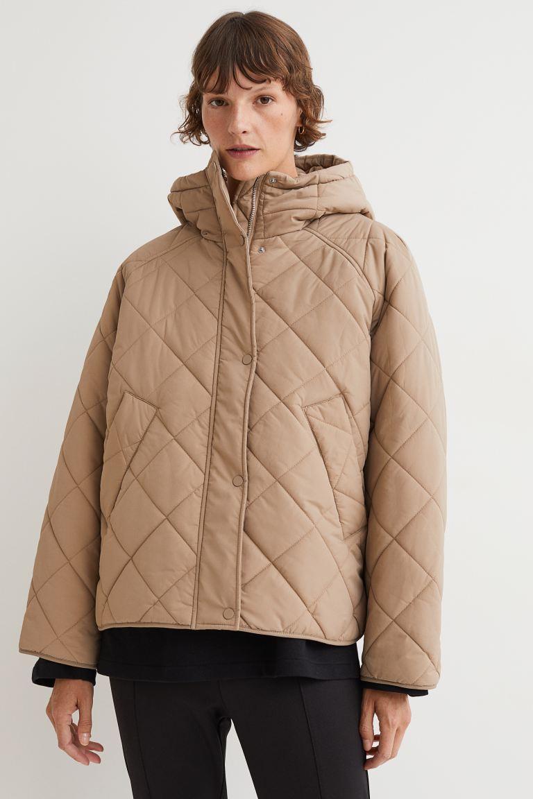 Quilted Jacket - Beige - Ladies