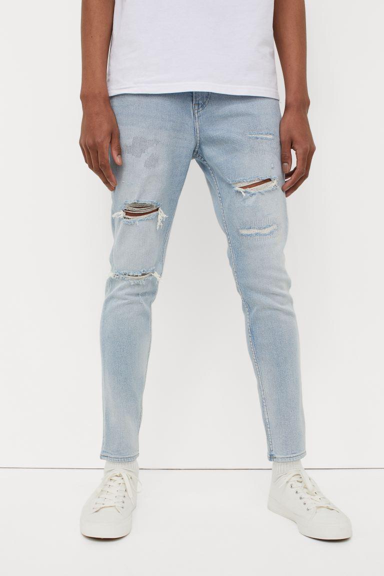 Skinny Cropped Jeans - Light denim blue - Men   H&M US