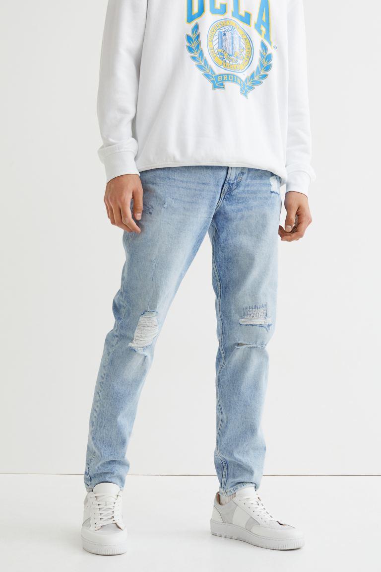 Slim Tapered Jeans - Light denim blue - Men