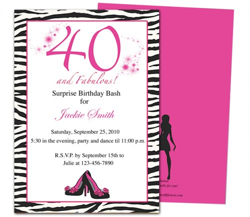 40th birthday party invitation templates koni polycode co