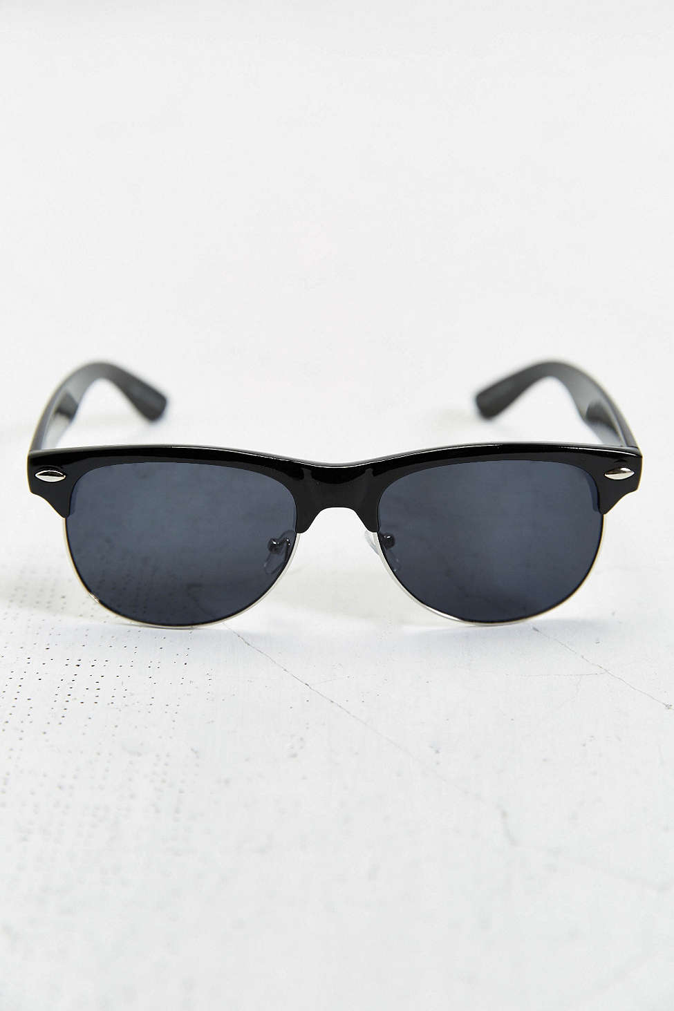 Glasses Frames Urban Outfitters : The Felon Round Half-Frame Sunglasses - Urban Outfitters ...