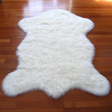 snowy white polar bear pelt shoplinkz