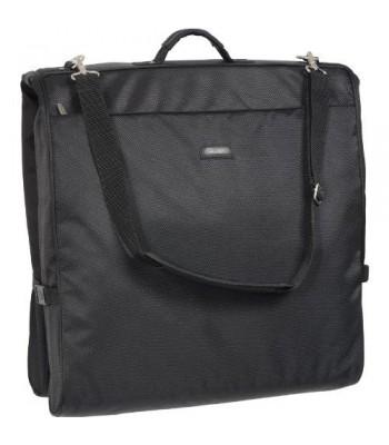 WallyBags 45 Inch Framed Garment Bag with Shoulder Strap, Black, One Size