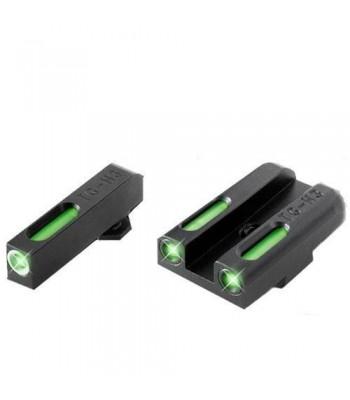 TRUGLO TG13GL1A Brite-Site TFX Handgun Sight for Glock Low Set, Black