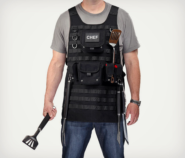 Tactical BBQ Apron with MOL...