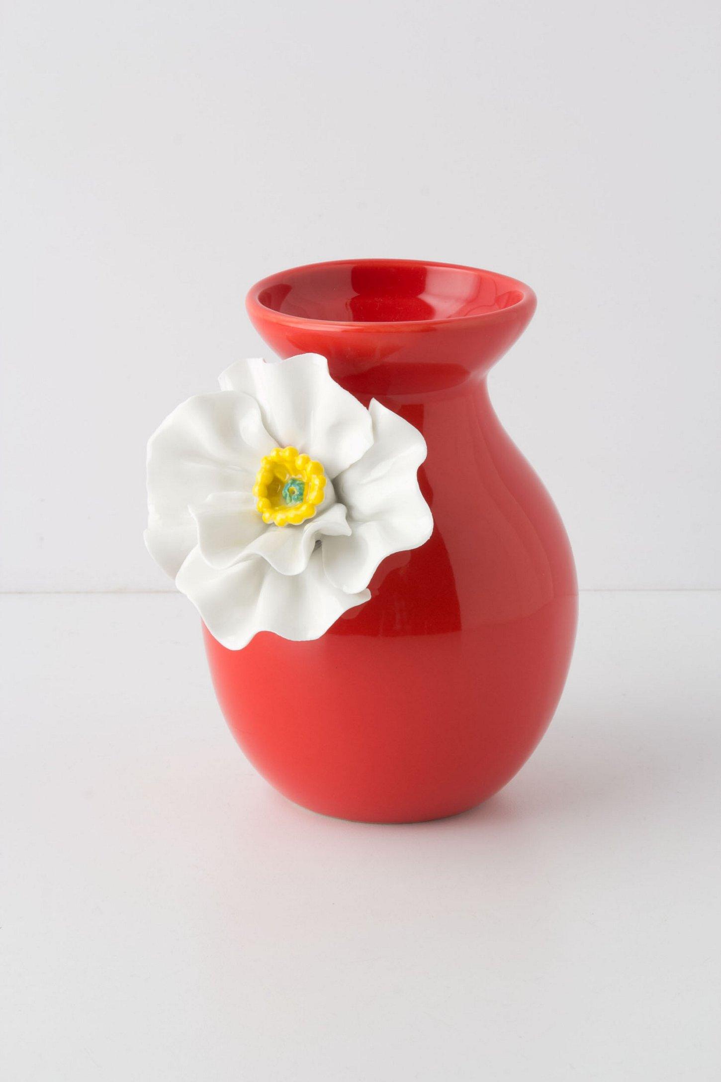 White Poppy Vase - Anthropo...