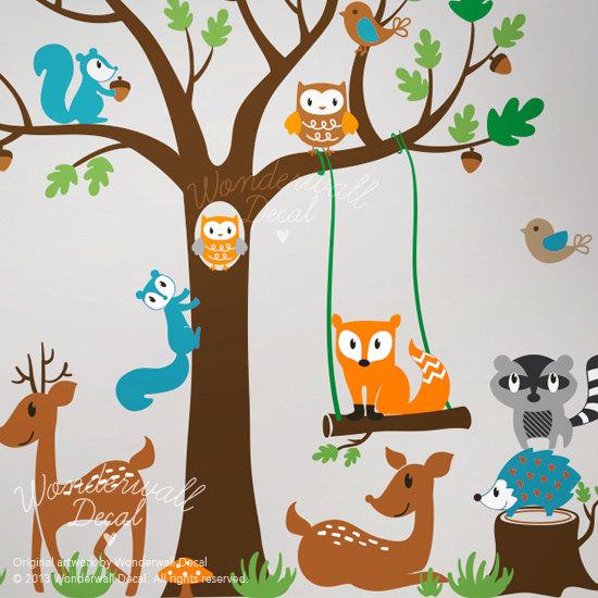 Children Wall Decal woodlan...