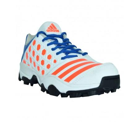 adidas sl 22 trainer 16 white-blue cricket shoes   Shoplinkz ...