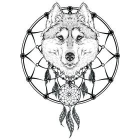 Create My Tattoo Wolf Dreamcatcher Tattoo Tattapic Shoplinkz