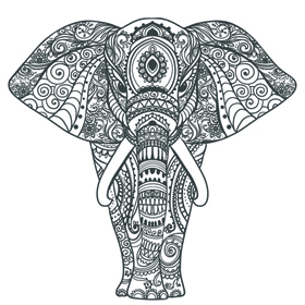 Black Elephant Mandala Tattoo Tattapic Shoplinkz Animal Tattoos