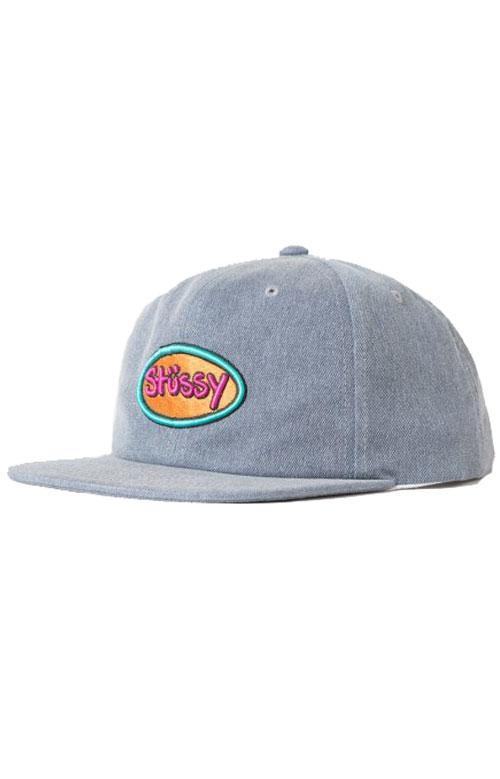 Stussy, Logo Badg Snap-Back Hat - Navy - Stussy