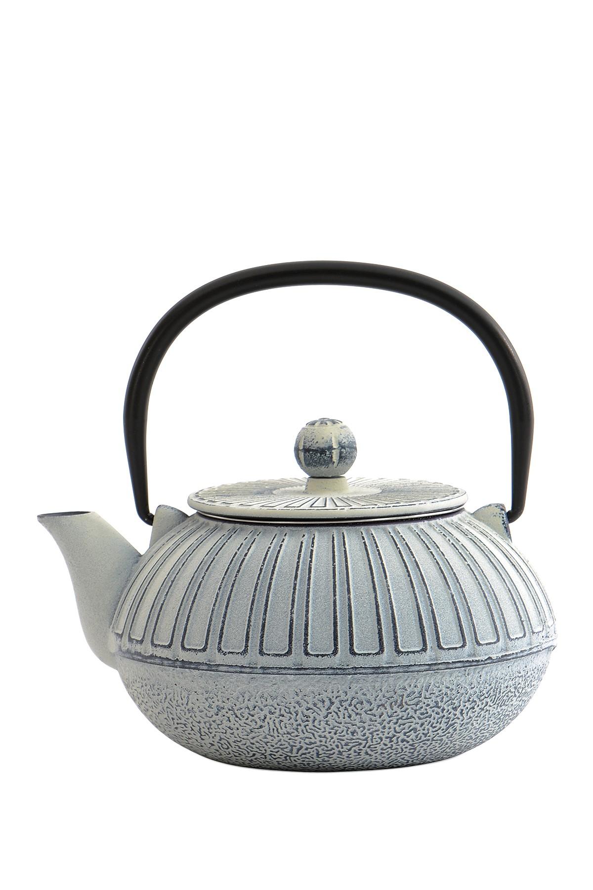 Cast Iron White Teapot