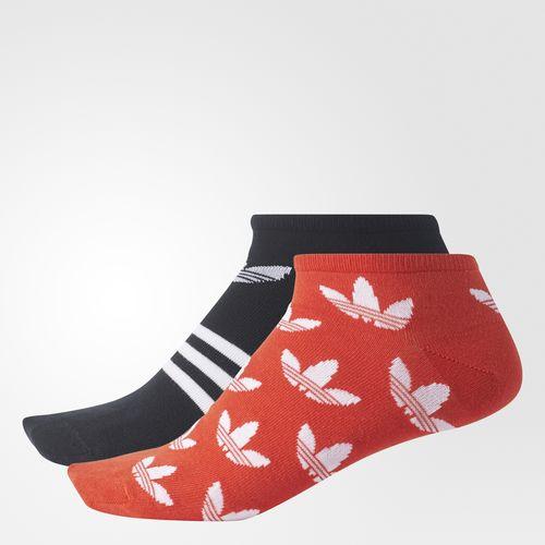 adidas - Trefoil Liner Socks 2 Pairs Bold Orange  /  Black  /  White CD0875
