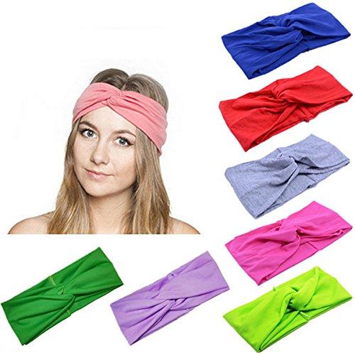 Lanzom 8 Pieces Women Fashion Elastic Hair Band Turban Head Band Hair  Accessories 6a1e55c6798