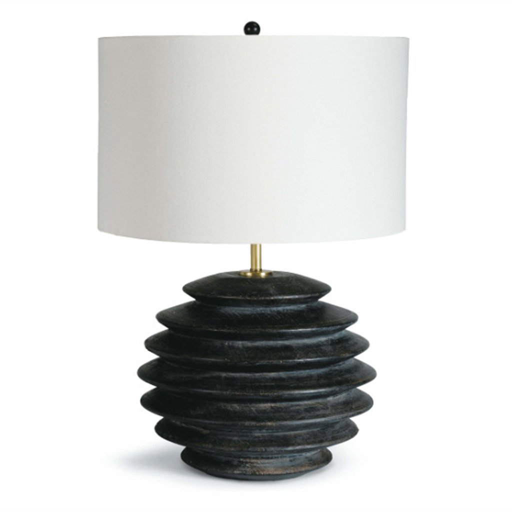 Ribbed Ebony Lamp – Pieces