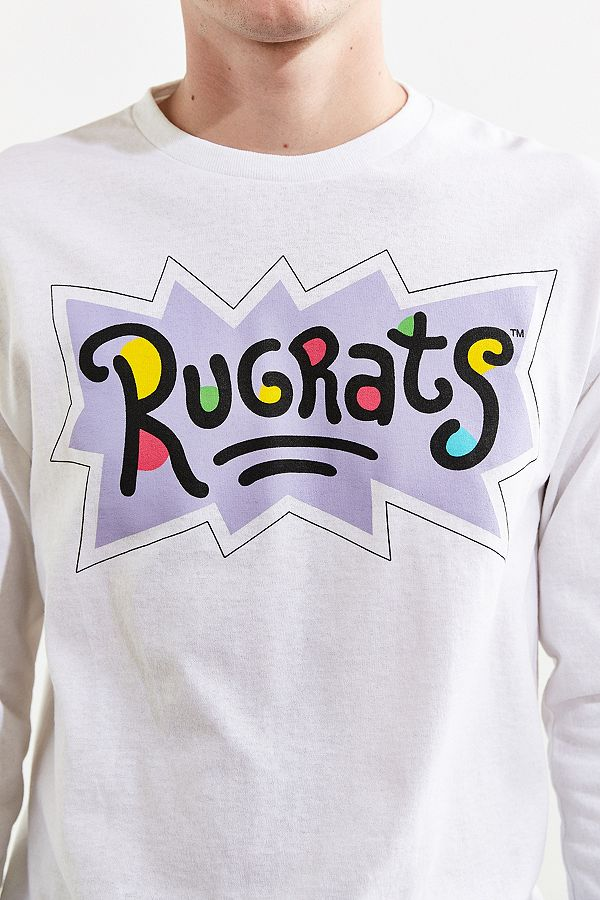 91a57431eb0d Slide View  5  Rugrats Faces Long Sleeve Tee