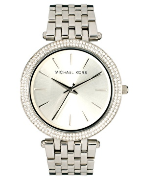 Michael Kors Silver Crystal Watch