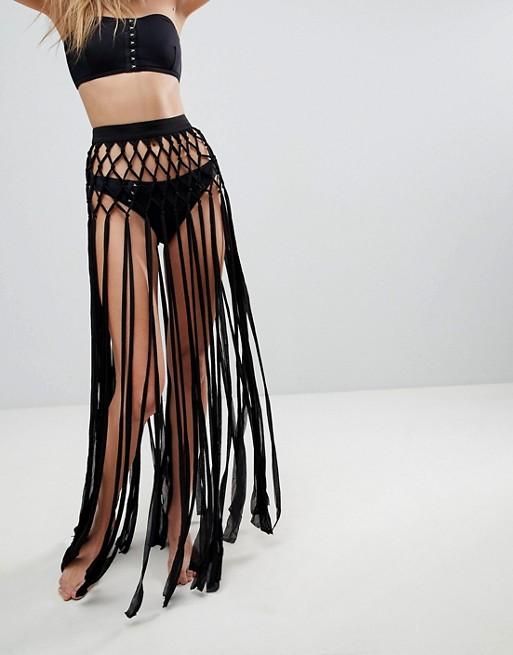 Slinky Fringed Knotted Bea...