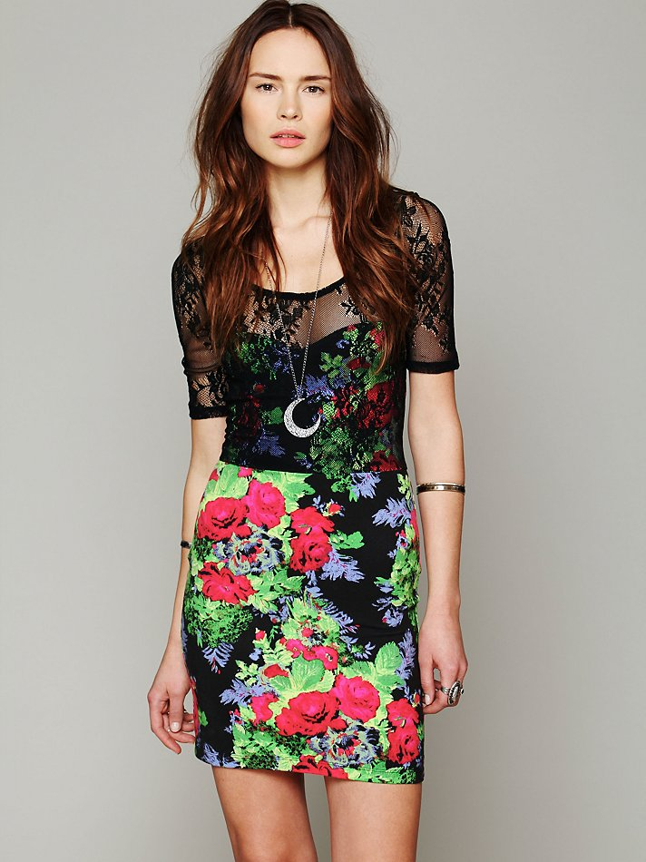 Free People Lace Overlay Bo...