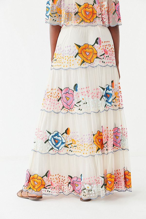UO Embroidered Maxi Skirt