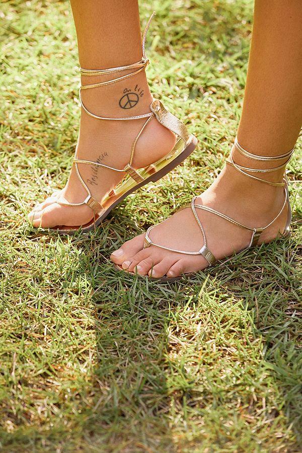Leather Lace-Up Gladiator Sandal